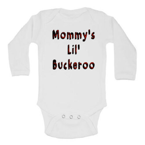 Daddy/'s Lil/' Buckaroo Country Plaid Hunting Style Cute Baby Romper Bodysuit