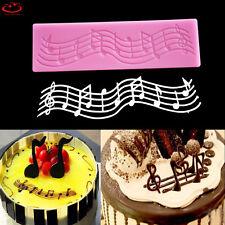 Music Note Lace Silicone Fondant Mold Cake Sugarcraft Decorating Chocolate Mould