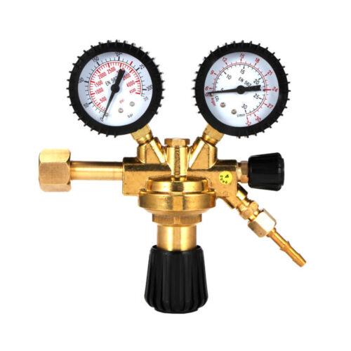 CO2-Druckminderer Mehrweg Aquarium mit 2 Manometern und Feinnadelventil MIG TIG