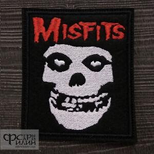 Misfits punk textile printed patch diy sew on jacket horror hardcore rock thrash