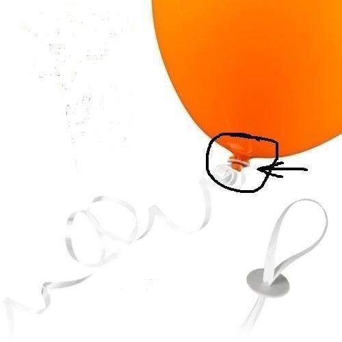 Weiß 25 50    Schnellverschluss mit Band für Helium gefüllte Latexballons