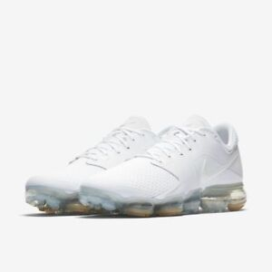 Nike Air VaporMax Men Running Shoes Mens New White SIlver Sneakers ... f0c50f9aa833