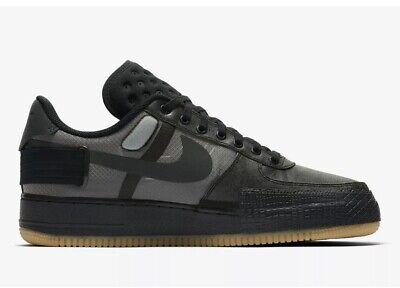 Size 10.5 - Nike AF1-Type 1 Black Anthracite Gum Air Force 1 CJ1281-001 Men's   eBay