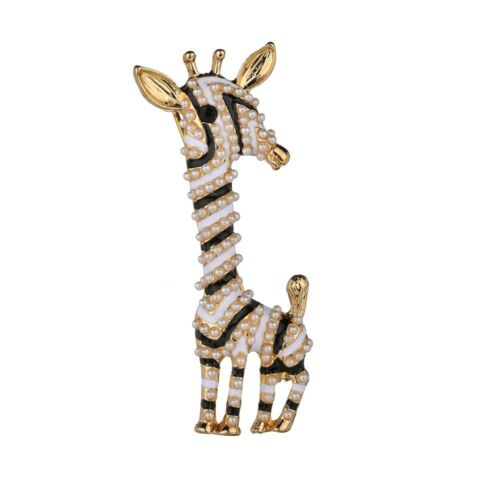 Femmes Alliage Girafe Animal Forme Fashion Jewelry Metal Broche Cadeau Collier Broche
