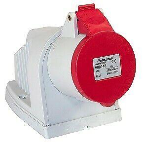 Lewden Palazzoli 16Amp 3 Phase Angle Socket 508136 PM16 548 415 V