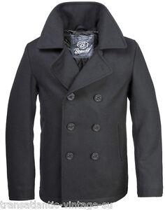 vintage black wool peacoat bP9JN5Uc