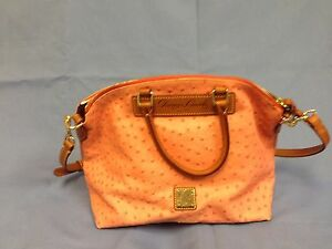 Image Is Loading Nwt Dooney Amp Bourke Ostrich Embossed Leather Satchel