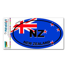 New Zealand Country Flag - NZ Euro Oval Flag - MAG-NEATO'S™ Car Vinyl Magnet