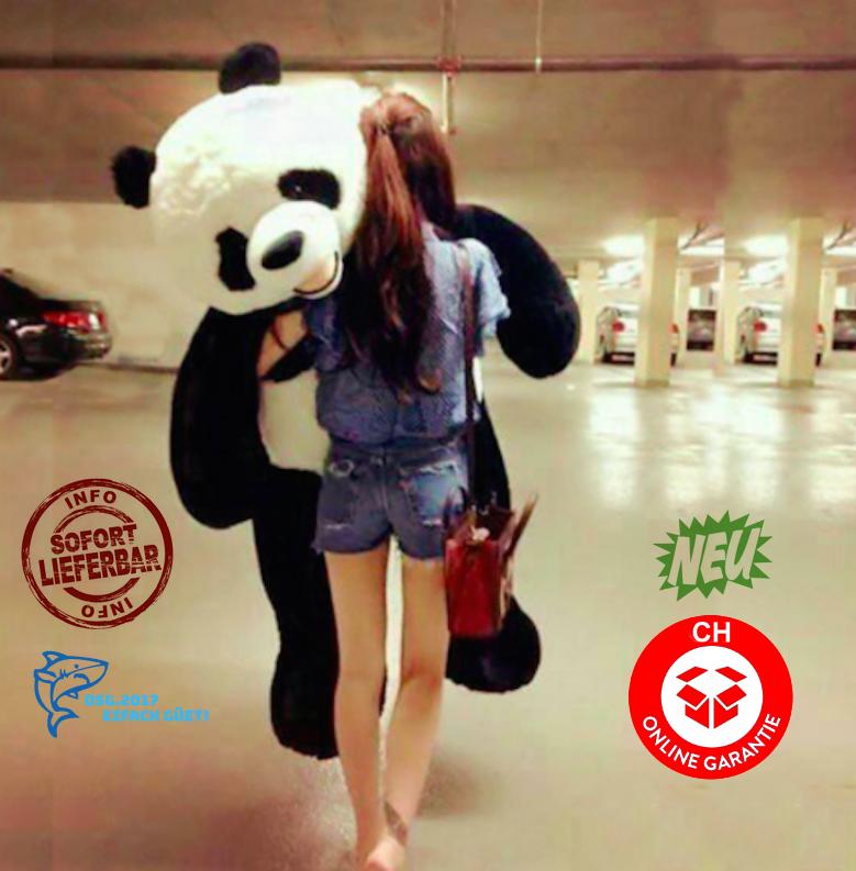 Panda Bär Pandabär Plüsch 200cm 2m Teddybär Plüschtier XXL Kind Kinder Freundin