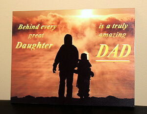 Image Is Loading Retro Dad And Daughter Metal Wall Sign Fathers