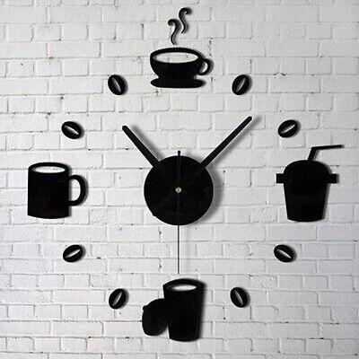 Fashion Acrylic DIY Self Adhesive Interior Wall Creative Decoration Clock Perfec