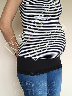 Gut Maternity Belly/bump Band With Lace Smartfabric Size Xs, S, M, L & Xl 100% Hochwertige Materialien