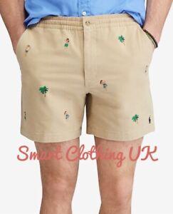 6b25ae47 Details about Ralph Lauren Men's Classic Fit Polo Prepster Shorts (Beige)  RRP £75