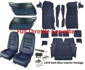1978 Corvette Interior Package Includes Carpet Door Panels Seat Covers Kit Ebay