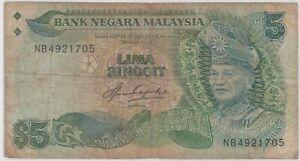 Mazuma *M1310 Malaysia 5th $5 NB4921705 F Only