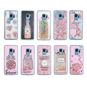 new style 5ffd1 79904 Details about lot 10 samsung s9 plus iphone xs LG waterfall BLING LIQUID  GLITTER LUXURY CASE