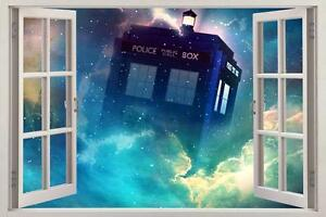 Tardis Dr Who 3D Window View Decal Graphic WALL STICKER Art Mural