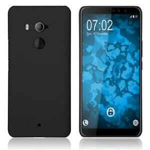 Hardcase-for-HTC-U11-Eyes-rubberized-black-Cover-Case