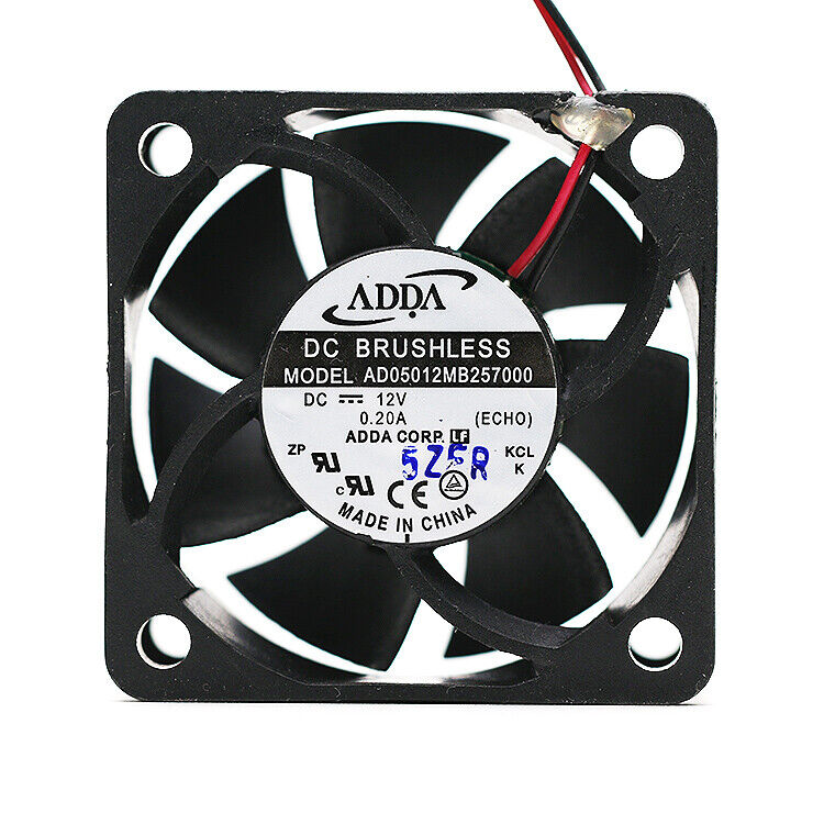 ADDA AD05012MB257000 12V 5CM 5025 0.20A Dual ball bearing cooling fan