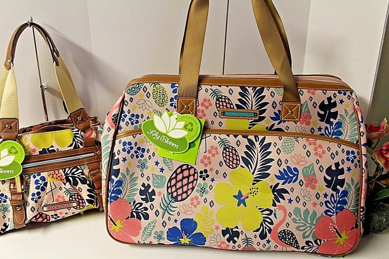 909ef8030 Lily Bloom Luggage DESIGNER Pattern Suitcase Wheeled Duffel Carry on ...