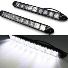 White 2pcs 12V 9 LED Daytime Running Light DRL Car Fog Day Driving Lamp UK Stock
