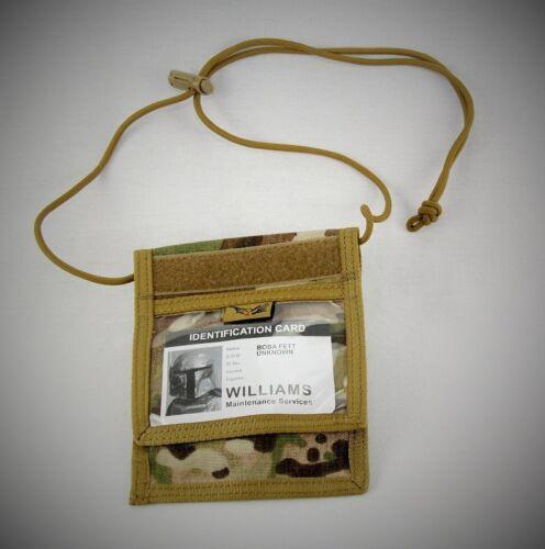 V2 ID CARD DISPLAY ACCREDITATION /& DOCUMENT NECK WALLET CORDURA MULTICAM