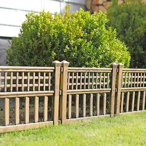 Greenhurst Pack of Four Plastic Fence Panels in Bronze Garden Gate Fence