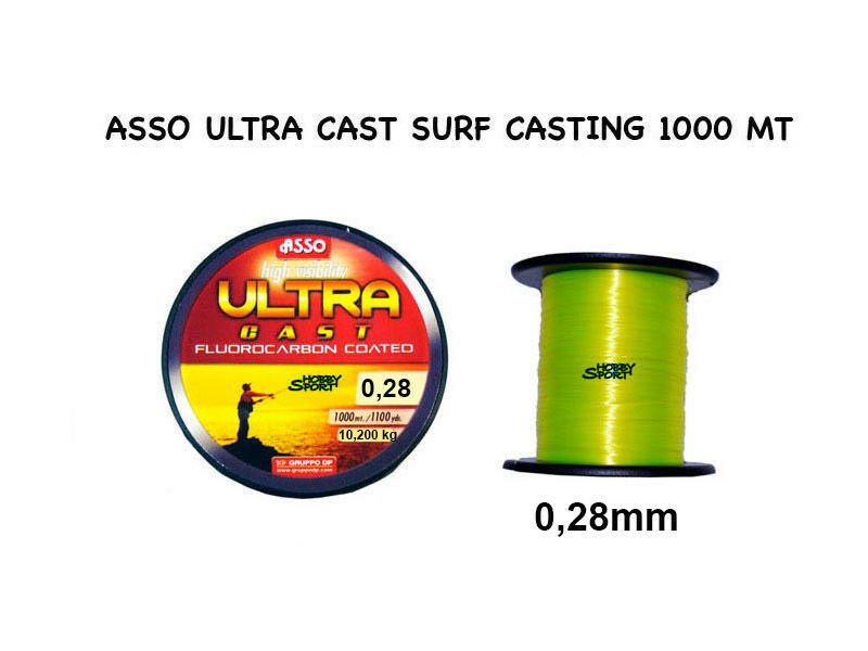 FILO ASSO  ULTRA SURFCASTING yellow 0,28 mm 1000 MT X MARE