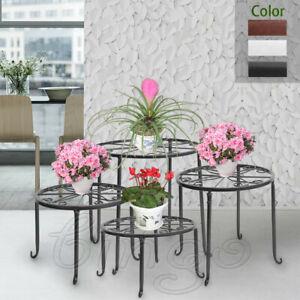Metal-Outdoor-Indoor-Pot-Plant-Stand-Garden-Decor-Flower-Rack-Wrought-Iron-US
