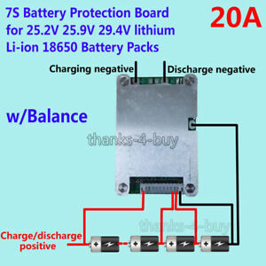 7s 24v 20a bms protection board w balance for 18650 li ion lithium rh ebay com Xingyue Wiring Diagram Apc Wiring Diagram
