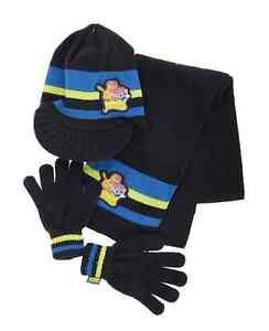 Ninos-Moshi-Monsters-Azul-Marino-Sombrero-Bufanda-amp-Set-Guantes-estilo-2140530