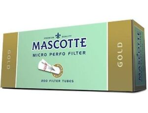 NEW-Mascotte-Gold-Filter-Cigarette-Tubes-1000-5-Boxes-Make-Your-Own