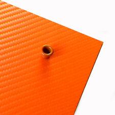 "Feuille KYDEX carbone hunter orange 2 mm .080"" 15 x 15 cm"