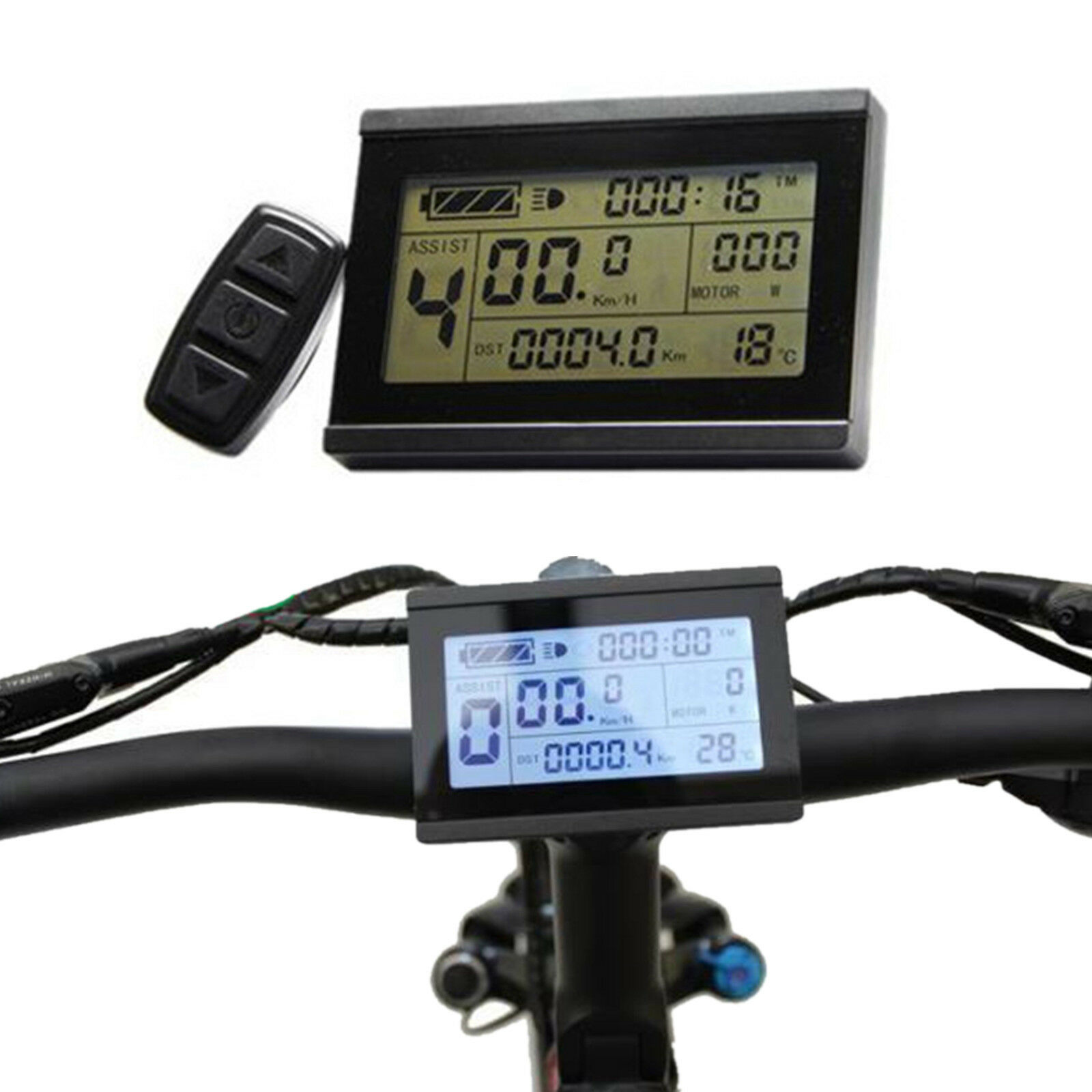 Risunmotor 24-48V KT LCD3 Display Meter Control Panel For Electric Bicycle eBike