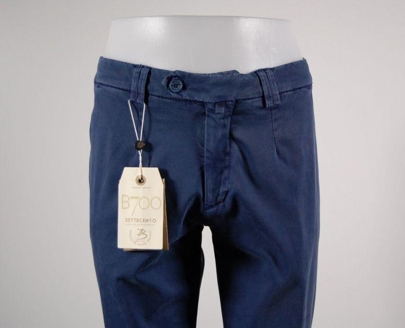 Pantalone slim fit B700 in cotone smerigliato lavato stretch Blu Estate 2018