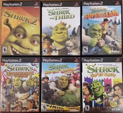 Shrek Games Playstation 2 Ps2 Tested Ebay