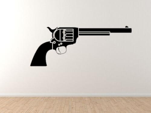 Vinyl Wall Decal Art Heavy Weapon #8 Revolver Handgun Western Movie Gun