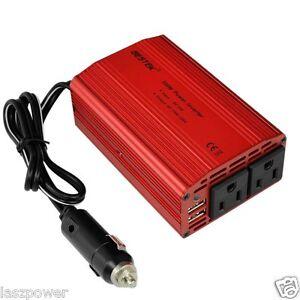 New-BESTEK-Car-Charger-12V-DC-Plug-w-Dual-110V-AC-Outlets-amp-Dual-USB-3-1A-Ports