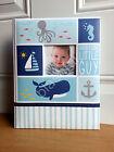 Carter's Blue UNDER THE SEA Baby Boy Memory Keepsake Book Beach Ocean Whale