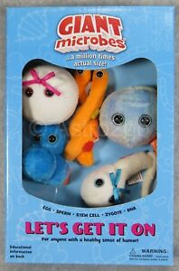 Giant Microbes Plush Toy Soft Original Gift Educational Let/'s Get It On Set of 5