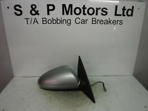 Nissan-Primera-P12-02-06-OS-Driver-Side-Electric-Wing-Mirror-Silver-96301AU322