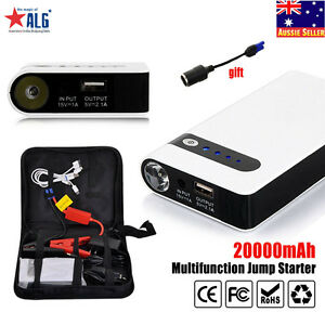 Details About Portable 20000mah Car Jump Starter Vehicle Battery Charger Power Bank Engine New