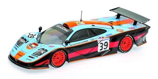 MINICHAMPS 530133739 McLaren f1 GTR 24 H Le Mans 1997 Gulf Équipe 1 18 Nouveau neuf dans sa boîte