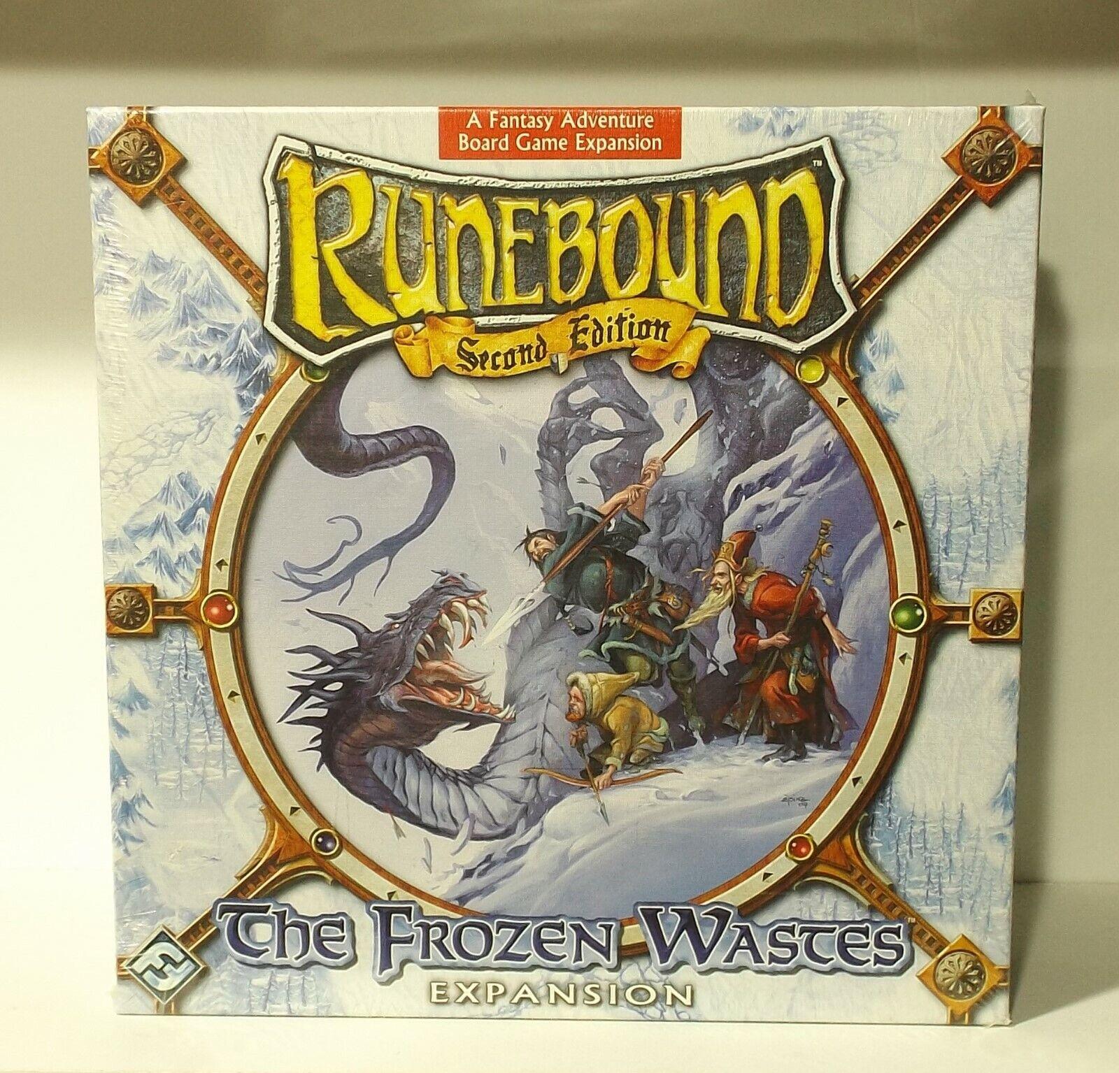 Runebound andra upplagan The Frozen WASTES EXPANSION fantasi Fljus NY OCH SEALD