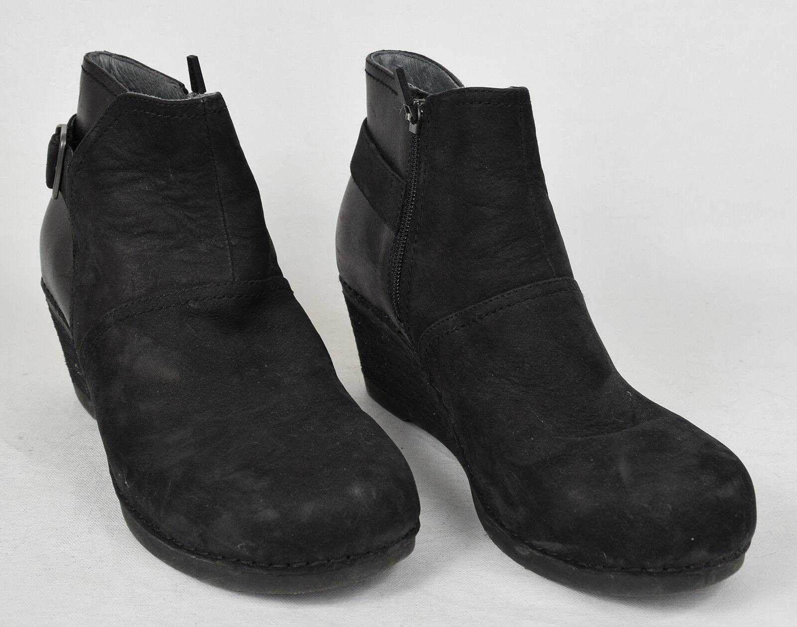 Dansko Dansko Dansko Womens Shirley Ankle Bootie Black Boots 41 f43f0b