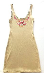 Victoria-039-s-Secret-Moda-International-Sleeveless-Sundress-Dress-Sz-Small-Beige