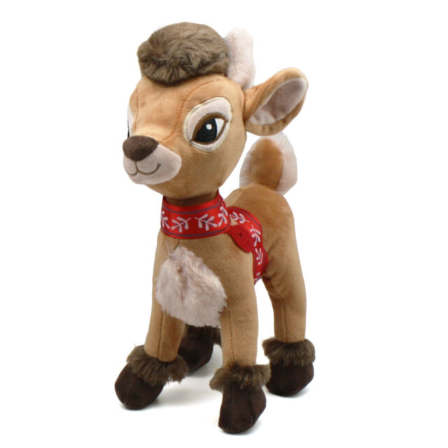 Reindeer Christmas Table Decorations Plush Brown Rudolph Reindeer Applause