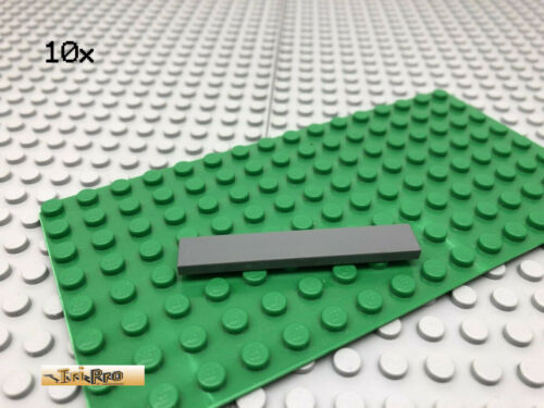 LEGO® 10Stk 1x6 Fliese Platte Plate Dunkel Grau,Dark Gray 6636
