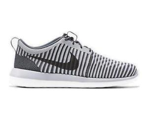 check out d227d 44f84 Image is loading Mens-NIKE-ROSHE-TWO-FLYKNIT-Grey-Textile-Trainers-