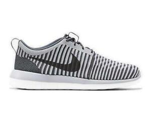 9d9673df73006 Image is loading Mens-NIKE-ROSHE-TWO-FLYKNIT-Grey-Textile-Trainers-